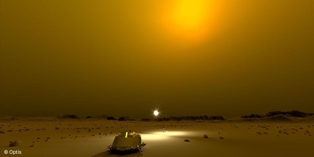 Optis nous fait vivre l'exploration spatiale de la surface de Titan