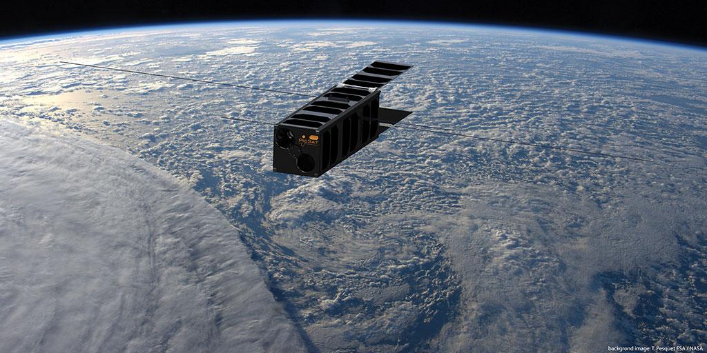 Une platine piezo de la SRC Cedrat Technologies embarquée dans le nanosatellite PICSAT