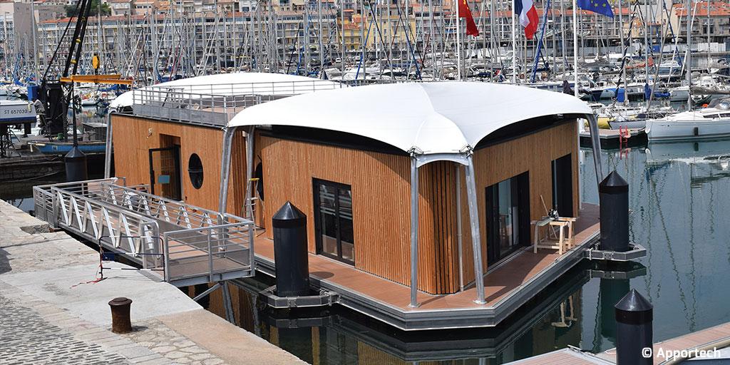La SRC Principia participe à la conception  de la capitainerie flottante du port de Sète