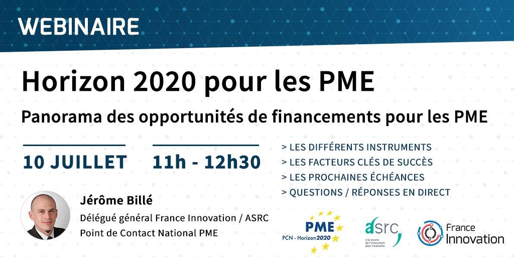 Webinaire - Horizon 2020 pour les PME