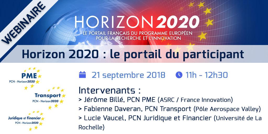 Webinaire Horizon 2020 - Le portail du participant