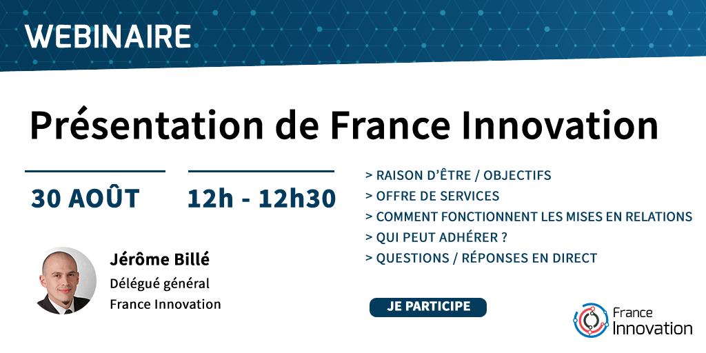 Webinaire pour présenter France Innovation