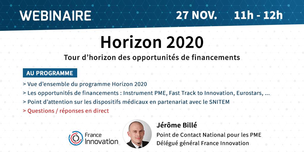 Webinaire Horizon 2020 SNITEM