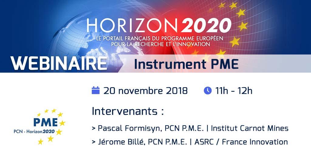 webinaire Instrument PME - Horizon 2020 - PCN PME
