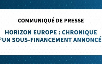 Horizon Europe - Communiqué de presse