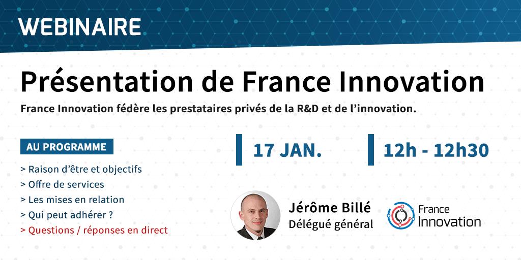 Webinaire - Présentation de France Innovation -17 janvier 2019