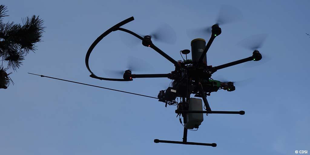 CDSI conçoit un système drone dédié au traitement des nids de chenilles processionnaires
