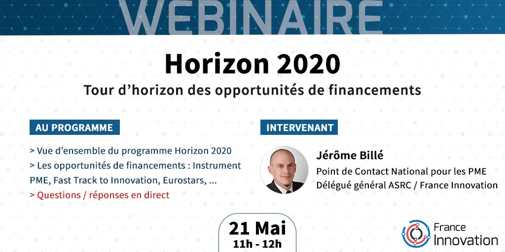 Webinaire Horizon 2020 - Panorama des financements