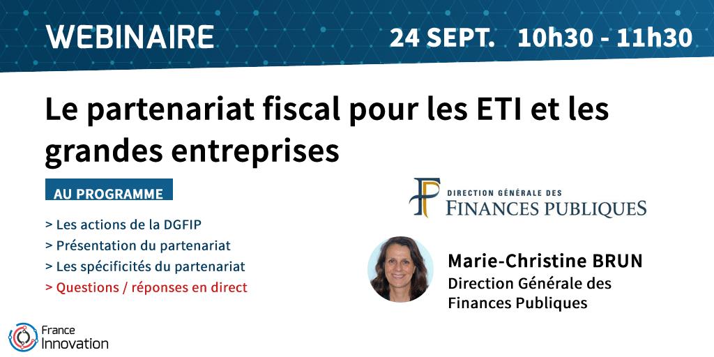 Webinaire sur le partenariat fiscal pour les ETI et les grandes entreprises