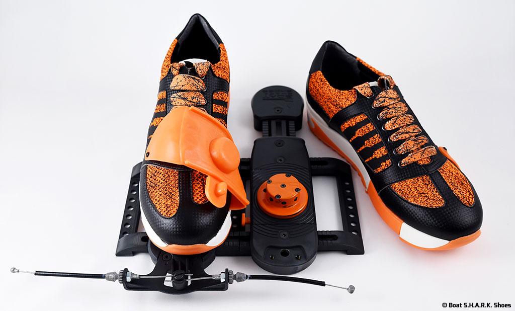 Boat S.H.A.R.K. Shoes s'appuie sur Axena Design pour concevoir un équipement innovant pour la pratique de l'aviron