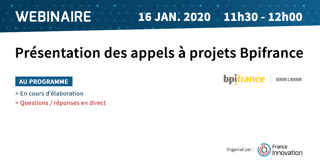 Webinaire Projets BPIfrance