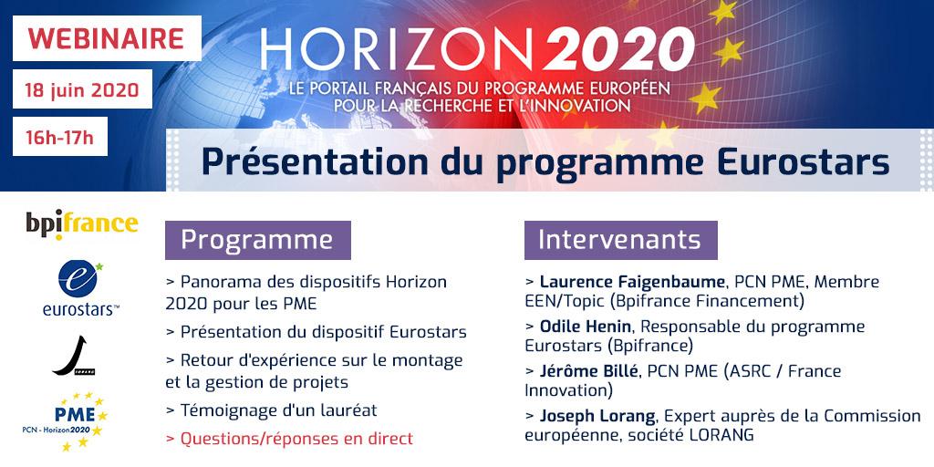 ebinaire Horizon 2020 Eurostars